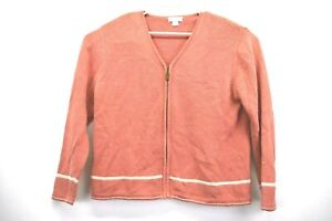 Christopher-amp-Banks-Women-039-s-XL-Long-Sleeve-Full-Zip-Up-Ramie-Blend-Sweater