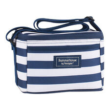 Coast Navy & White Stripe Mini Cool Bag – Lunch Small Insulated Coolbag Lunchbag