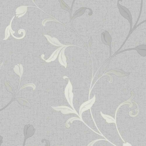 Fine Decor Quartz Trail Silver Glitter Textured Wallpaper FD42201