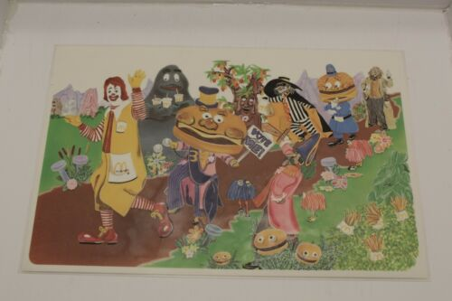 VINTAGE 1978 MCDONALD/'S PLASTIC PLACE MAT RONALD MCDONALD W// FRIENDS CLEAN!