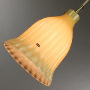Hollywood-Regency-Pendant-Leuchte-Doria-Glas-60er-70er-Jahre-Lampe-Neuw-vintage