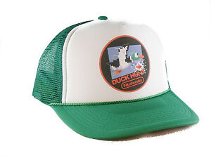 Vintage Nintendo Duck Hunt Trucker Hat mesh hat video game hat green ... 34dca2ce368