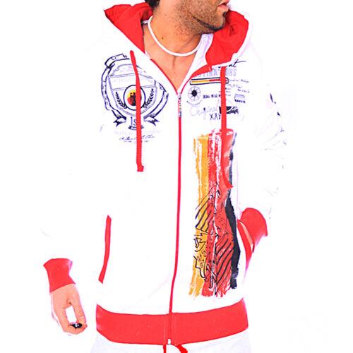 Herren Sweatjacke Jogging Jacke WM Deutschland Fitness Sport Zipper Hoodie R.C.1