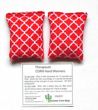 CORN Therapeutic HAND WARMERS -Use Hot & Cold-Microwavable-SET of 2-100% Natural