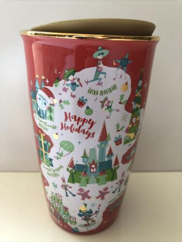 Disney Parks Disneyland Starbucks Holiday Red Tumbler Mug 2020 New In Hand!!