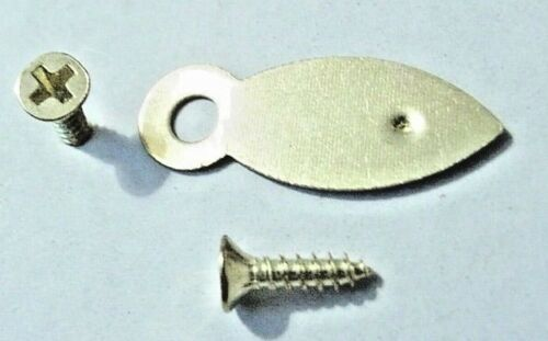 Picture Frame Turn Buttons 19mm Brassed With Screws x 100 Artist Crafting