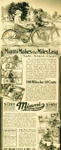 Advertising-Miami-Power-Bicycle-Motorcycle-Middletown-Ohio-Safe-Silent-1915