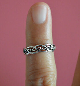 925-Sterling-Silver-Adjustable-Summer-Spring-Celtic-Knots-Toe-Ring-Beach-Jewelry