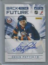 2012-13 Limited Back to the Future Dual Auto 23/25 Denid Potvin Calvin de Haan