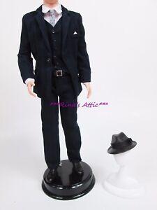 Silkstone-Roger-Sterling-Ken-Barbie-Doll-SUIT-Fashion-Outfit-Hat-Suit-Vest