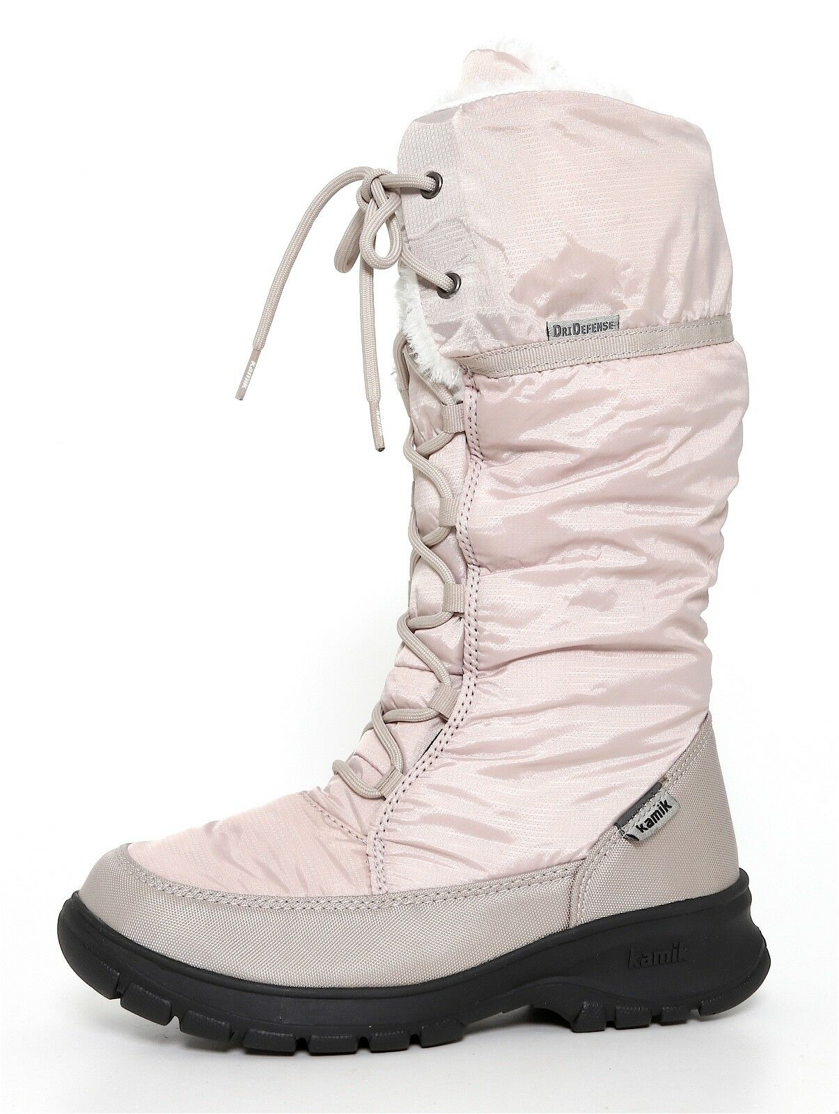 Kamik Seattle Fuzzy Boot Oyster Women Sz 6 3361