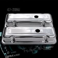 Short w//Hole PCE314.1050 compatible with Chevy 173 2.8L V6 Chrome Steel Valve Covers