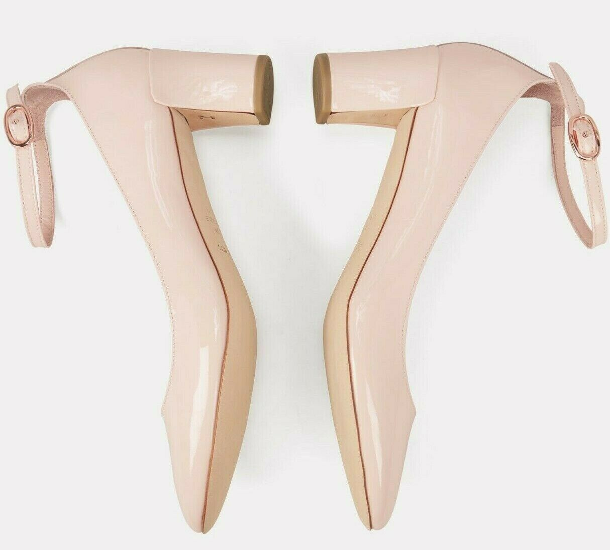 445 NEW Repetto ELECTRA MARY JANE HEELS Pumps Patent Leather NUDE Pink shoes 41