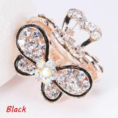 Jewelry Hair Clip Claw Mini Butterfly Hairpins Crystal Rhinestone Claw Barrette