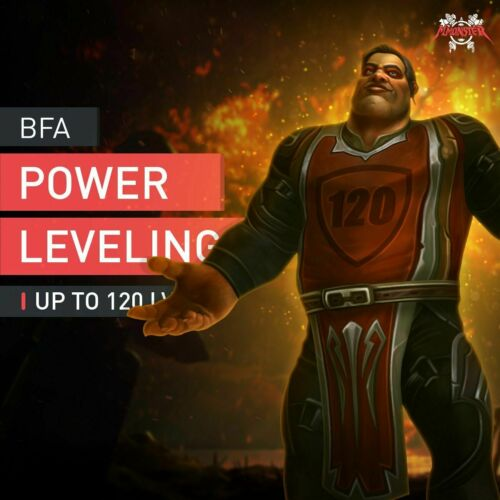 Speed Leveling 110-120 Sellboost WoW BFA Power Leveling Boost Up To 120 LVL