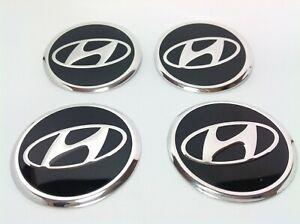 Hyundai-4-x-60mm-Alu-emblema-llantas-pegatinas-logotipo-embellecedores-tapacubos