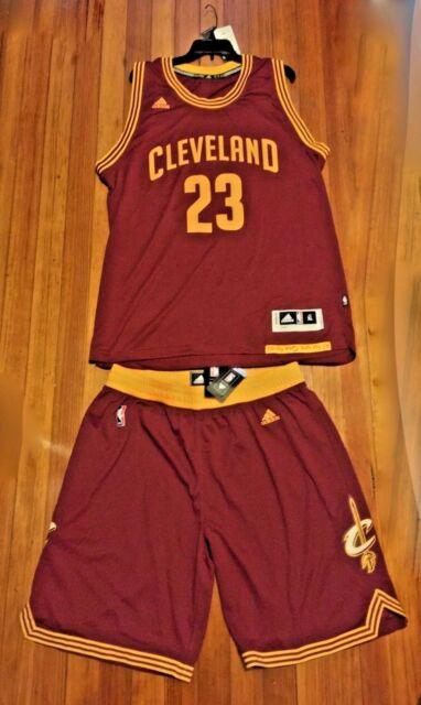 9b4d1e0268d New Mens ADIDAS Cleveland Cavs  23 Lebron James maroon gold Swingman  Uniform XL