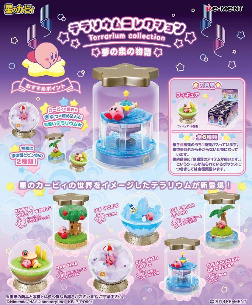 Re-Uomot Miniature Star Kirby Terrarium Collection Full Set of 6 pcs