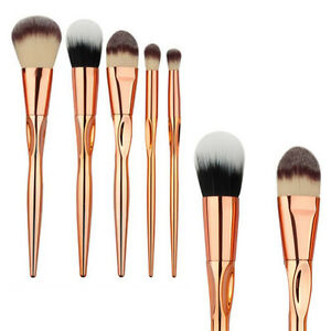 Rose-Gold-Makeup-Brush-Powder-Foundation-Contour-Eyeshadow-Cosmetic-Brushes-Pro
