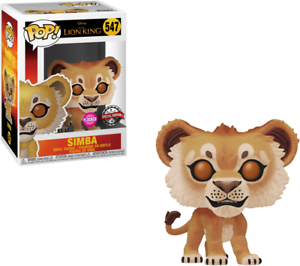 NEW OFFICIAL FUNKO POP THE LION KING SIMBA FLOCKED #547 VINYL FIGURE