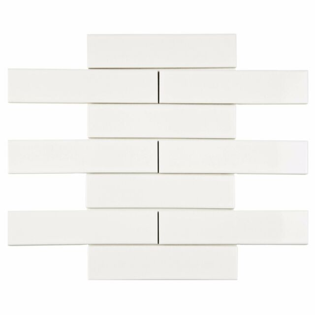 White Porcelain Subway Tile Gloss Finish 2 X 8 Box Of 10 Sqft