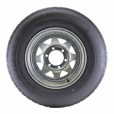 "L.R 6-Lug LOADSTAR ST225//75R-15/"" RADIAL Tire /& Galvanized Rim, D"