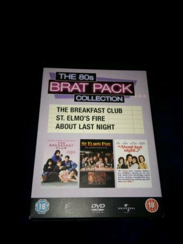 1 of 1 - Brat Pack Collection - Breakfast Club / About Last Night / St Elmo's Fire DVD