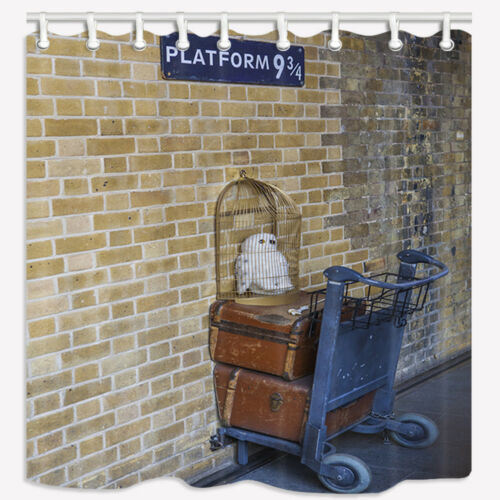 Famous Platform 9 3//4 London Brick Wall Bathroom Fabric Shower Curtain /&12 Hooks
