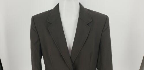 in blazer marrone da taglia di Woman 8 scuro lana J Giacca misto cotone Crew e 4Uqvan4