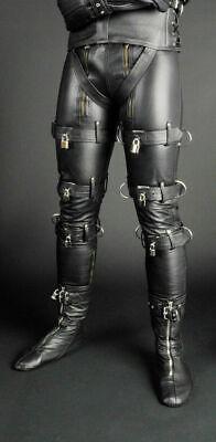 Men/'s Cowhide Leather Jeans BLUF Breeches Lederhosen Double Zip Pantalon Fesses Leder