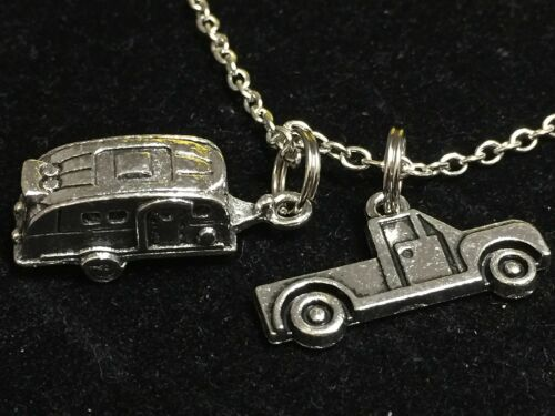 "Big RV Trailer with Truck Charm Tibetan Silver 18/"" Necklace BIN"