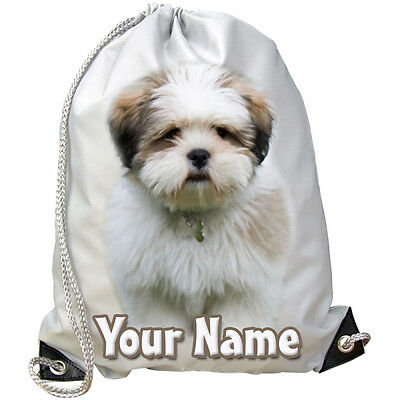 GIFT /& NAMED ANY COLOUR PERSONALISED GYM // SWIMMING // DANCE BAG MOUSTACHES