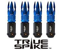 24 Vms Racing 89mm Forged Steel Lug Nuts W/ Blue Poseidon Tips For Dodge Dakota