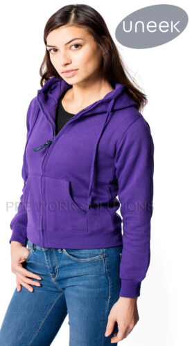 Uneek UC505 Ladies Classic Full Zip Hooded Sweatshirt Womens Zipped Hoodie Top