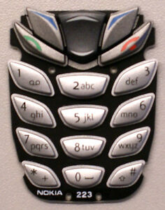 Genuine-Original-New-Nokia-6510-Silver-Keypad-Button-Keymat-Tastatur-Tastenmatte