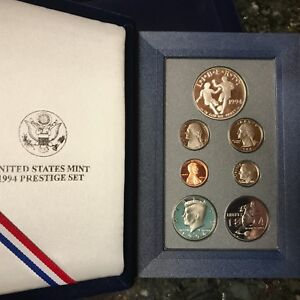 1994-UNITED-STATES-SILVER-PRESTIGE-PROOF-SET-WITH-BOX-AND-COA