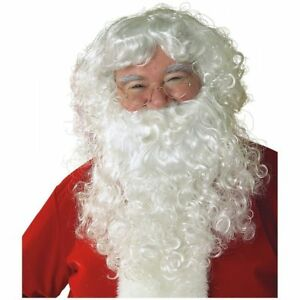 Papa-Noel-Barba-Y-Peluca-De-Santa-Claus-Nicolas-Adulto-Disfraz-Elaborado-Vestido