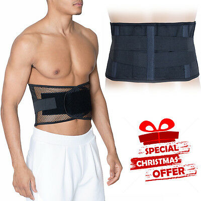 Back Support Belt Lower Lumbar Brace Waist Backache Pain Injury Relief M/L/XL