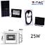 FARO-ENERGIA-SOLARE-LED-CON-PANNELLO-FARETTO-CREPUSCOLARE-TELECOMANDO-V-TAC miniatura 5
