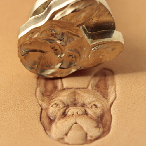 Leather stamp tool for leather craft DIY brass stamp #294 French Bulldog
