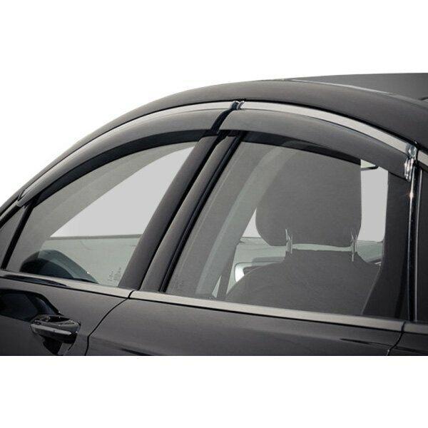 WELLvisors For Ford Fusion 13-20 Side Clip on Window Visors Chrome