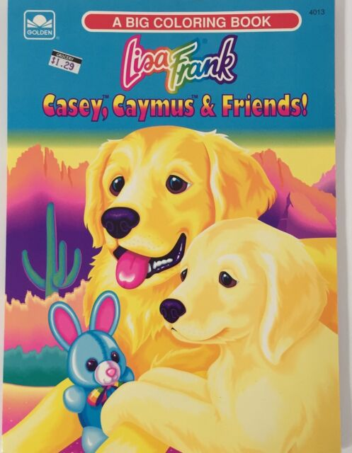 Lisa Frank Big Coloring Book Casey Caymus Vintage Golden Retriever Dog Friends