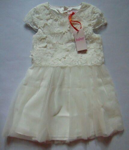 5-6 ans Ted Baker filles blanc cassé dentelle /& tulle robe RRP £ 55