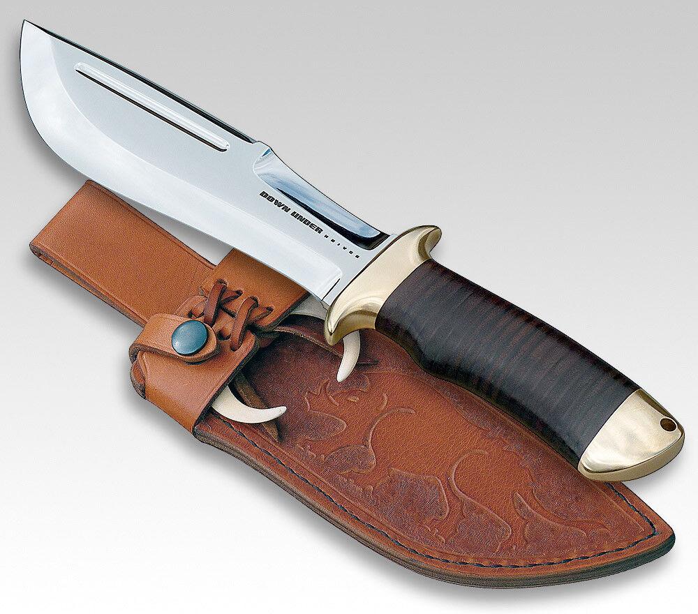 Down under Razorback Couteau Couteau Couteau de Chasse Lame 18 Cm Cuir Poignée Cuir Fourreau c88ec2