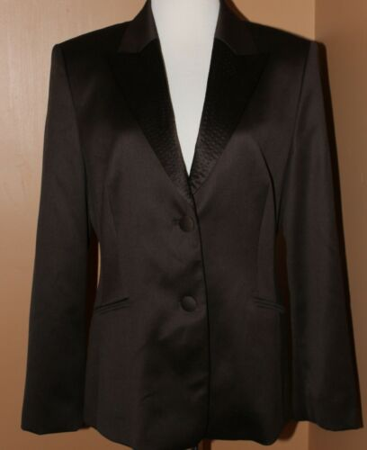 LOUIS FERAUD Brown Blazer Jacket Stitched Lapel Po