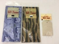 World Market Cost Plus Gift Tissue Paper Elephant Animal Paper Tags Lot