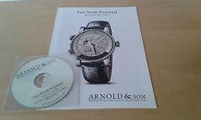 Usado - ARNOLD & SON - Dossier de prensa relojes + CD  - Item For Collectors