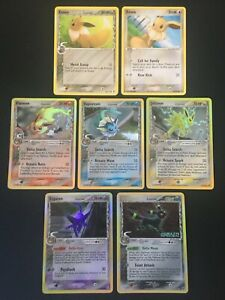 LOT-EX-Delta-Species-Vaporeon-Espeon-Umbreon-Flareon-Jolteon-Holo-Pokemon-Cards