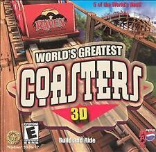 Video Game PC World's Greatest Coasters 3D NEW SEALED Jewel