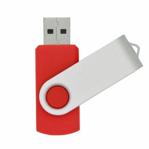 8GB USB 2.0 Red Color Flash Drives Swivel Memory Storage Stick Data Transfer